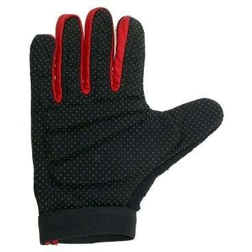 Перчатки 5-719952 длинные пальцы   р-р XL цвета в ассортименте с петельками VENTURAВелоперчатки<br>с длинными пальцами, гелевые, с лайкрой, дыщащий материал, ладонь с антискользящим покрытием, с петельками для более легкого и удобного снятия с ладони, эластичная манжета на липучке, черные, блистер<br>Доступные цвета: красный, серый, синий<br>