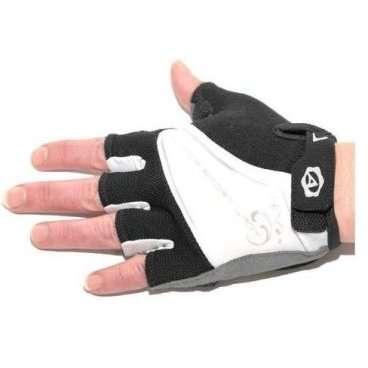 Перчатки 8-7130561 Lady Comfort Gel черно-бело-серые M с с петельками AUTHORВелоперчатки<br>женские, черно-бело-серые, анатомический покрой, комбинация эластичного материала LYCRA и махрового материала, тонкая синтетическая кожа AMARA с антискользящими гелевыми прокладками и защитным укреплением на ладони, с петельками для более легкого и удобного снятия с ладони, блистер<br><br><br>Ширина лодони:  88 мм.<br>Длина среднего пальца: 28 мм.<br>