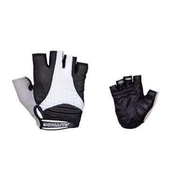 Перчатки 8-7130591 Men Elite Gel черно-белые р-р XL  с петельками AUTHORВелоперчатки<br>черно-белые, анатомический покрой, комбинация эластичного материала LYCRA и махрового материала, тонкая синтетическая кожа AMARA SHARK с антискользящими гелевыми прокладками и защитным укреплением на ладони, с петельками для более легкого и удобного снятия с ладони, блистер<br>