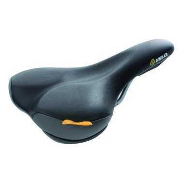 Седло для велосипеда VELO PLUSH PROPOTION универсальное 263х158мм черное 5-250215Седла для велосипедов<br>Универсальное седло для велосипеда VELO PLUSH PROPOTION  <br>Спортивный дизайн при высочайшем уровне комфорта<br>технология NET-TECH-GEL обеспечивает максимальный комфорт при низком весе седла<br>седло для велосипеда анатомической формы, со специальным ультралегким наполнителем <br>направляющие со шкалой<br>с защитой передней, задней и боковых поверхностей<br>Вес: 350 грамм<br>263х158мм <br>черное, блистер<br>Артикул 5-250215<br>