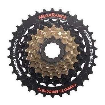 Кассета велосипедная Shimano Altus 8х11-32 черно-коричневая ECSHG318132 2-977Кассеты<br>NEW, ECSHG318132, ALTUS, 8х11-32Т, высокопрочная легированная сталь, для HG/IG цепей, черно-коричневая,инд. уп.<br>