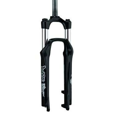 Вилка амортизационная для велосипеда RST Dirt Т 26х28,6 пружинно-эластомерная 130мм V+D 1-0055Велосипедная вилка<br>Вилка аммортизационная 26х28,6 регулируемая пружинно-эластомерная 130мм V+D черная RST Dirt Т, 1-0055<br>