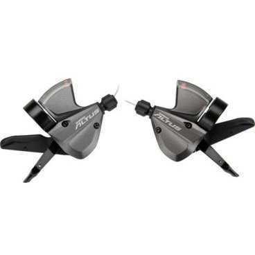 Шифтер для велосипеда Shimano Altus M370 левый/правый 3x9ск трос+оплетка ESLM370PALМанетки и Шифтеры<br>Шифтер Shimano Altus, M370, левый/правый, 3x9 скоростей, трос+оплетка, черный ESLM370PAL<br>