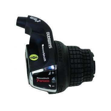 Шифтер для велосипеда Shimano Tourney RS35, правый, 7скоростей, трос 2050мм, ASLRS35R7APМанетки и Шифтеры<br>Шифтер Tourney, RS35, прав, 7ск, тр. 2050мм, б/уп.<br>