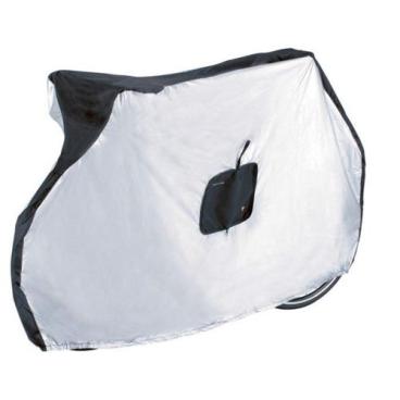 Чехол для велосипеда TOPEAK Bike Cover for mountain bake, 190T, черно/серебристый, нейлон, TBC002Чехлы и боксы для велосипеда<br>Hейлоновый чехол для велосипеда Topeak<br><br>Служит для защиты велосипеда от осадков. Быстро и компактно складывается.<br><br>Особенности нейлонового чехла для велосипеда Topeak:<br><br>Материал: Нейлон 190T<br>Размер: 178 x 63 x 100 см <br>Вес: 300 г<br>УФ-защита, защищает от влаги и коррозии<br>Водонепроницаемое покрытие с обеих сторон (190 мкм)<br>Легко надевается на велосипед, крепится снизу эластичной резинкой<br>