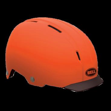 Велошлем Bell INTERSECT ретро дизайн M(55-59см) черный оранжевый BE7046582Велошлемы<br>Велошлем Bell Intersect <br>С виду ретро, но внутри абсолютно новый и технологичный Intersect. Сочетает в себе преимущества городского шлема и отличный дизайн.<br>Для большей безопасности на дороге в Intesect добавили крепление для габаритного света. Поролоновый наполнитель EPS разделен на сегменты и скреплен с усиленным каркасом. Пластиковый корпус ABS гнется и обеспечивает комфортную посадку .<br>Жесткий пластиковый корпус ABS <br>Крепление для габаритного света на задней части <br>Съемный козырек Friction Fit <br>Сегментированная подкладка EPS <br>Количество вентиляционных отверстий: 9 <br>Вес: 450 грамм.<br>Размер M (55-59см)<br>Цвет: матовый оранжевый<br>Артикул BE7046582<br>