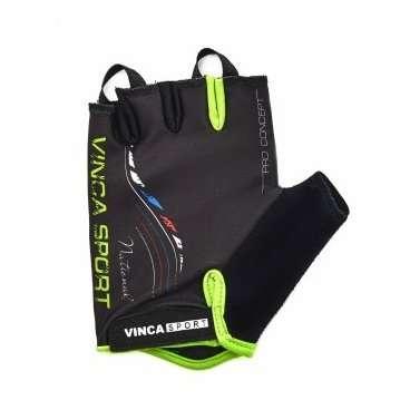 Перчатки велосипедные, NATIONAL, гелевые вставки, цвет черный, размер ХL VG 934 black national XLВелоперчатки<br>Перчатки велосипедные, NATIONAL, гелевые вставки, цвет черный, лёгкие воздухопроницаемые перчатки с усилением ладошки, плоской петлёй для снятия с руки и  липучкой;<br>Индивидуальная упаковка Vinca sport<br>Характеристики<br>Материал внешней сторонылайкра<br>Материал тыльной сторонысерая амара<br>Наличие гелягелевая вставка<br>Размер:  XL<br>Артикул: VG 934 black national (XL)<br>