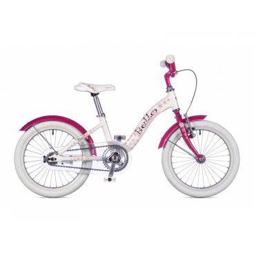 Детский велосипед AUTHOR Bello 16 2016Детские<br>Детский велосипед AUTHOR Bello 9 2016 года , бежевый 21-1600000026, бело-розовый 21-1600000025.<br><br><br>BELLO 16 размер колес, размер рамы 9, идеально подойдет для девочек ростом 100 - 125 см. Прочная стальная вилка, 1 скорость<br>Отличный детский велосипед для девочек. Очень легкий детский велосипед от Author, весит всего 8,2 кг! Выпускается в двух расцветках.<br><br><br><br><br><br><br><br>Общие характеристики<br><br><br>Модель<br>2016 года<br><br><br>Тип<br>детский<br><br><br>Область применения<br>дорожный, городской<br><br><br>Вес велосипеда<br>8.2 kg / 9<br><br><br>Рама, вилка<br><br><br>Материал рамы<br>дюралюминиевый сплав<br><br><br>Размеры рамы<br>9.0 дюйм<br><br><br>Амортизация<br>отсутствует<br><br><br>Конструкция вилки<br>жесткая<br><br><br>Конструкция рулевой колонки<br>неинтегрированная, резьбовая<br><br><br>Размер рулевой колонки<br>VP COMP 1<br><br><br>Колеса<br><br><br>Диаметр колес<br>16 дюймов<br><br><br>Наименование покрышек<br>16 x 1.50<br><br><br>Материал обода<br>алюминиевый сплав<br><br><br>Двойной обод<br>нет<br><br><br>Материал бортировочного шнура<br>металл<br><br><br>Торможение<br><br><br>Наименование переднего тормоза<br>Tektro 855<br><br><br>Тип переднего тормоза<br>ободной<br><br><br>Уровень переднего тормоза<br>начальный<br><br><br>Наименование заднего тормоза<br> - <br><br><br>Тип заднего тормоза<br>торпедо<br><br><br>Уровень заднего тормоза<br>начальный<br><br><br>Трансмиссия<br><br><br>Количество скоростей<br>1<br><br><br>Уровень заднего переключателя<br>-<br><br><br>Наименование заднего переключателя<br>-<br><br><br>Уровень манеток<br>-<br><br><br>Наименование манеток<br>-<br><br><br>Конструкция манеток<br>-<br><br><br>Уровень каретки<br>начальный<br><br><br>Наименование каретки<br>VP Comp<br><br><br>Конструкция каретки<br>неинтегрированная<br><br><br>Тип посадочной части вала каретки<br>квадрат<br><br><br>Уровень кассеты<br>начальный<br><br><br>Наименование кассеты<br>-<br><br><