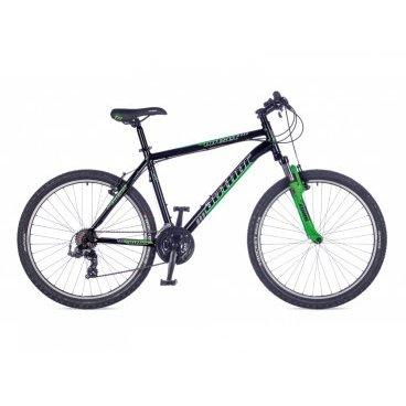 Горный велосипед AUTHOR Outset 26 2016Горные (MTB)<br>AUTHOR Outset 2016. <br>Горный велосипед для любителей кросс-кантри. Мощный, надёжный и, как все модели фирмы Author, безопасный велосипед. Сконструирован на алюминиевой раме. Амортизация ZOOM с ходом 60 мм. Ободная тормозная система, двойные обода, рычажковые переключатели ALTUS, 21 скорость. Вес 14.6 кг./19 21-1600000130<br>21-1600000127<br>21-1600000124<br>21-1600000125<br>21-1600000122<br><br><br><br><br><br><br>Общие характеристики<br><br><br>Модель<br>2016 года<br><br><br>Тип<br>для взрослых<br><br><br>Область применения<br>горный (MTB), кросс-кантри<br><br><br>Вес велосипеда<br>14.6 кг/19 <br><br><br>Рама, вилка<br><br><br>Материал рамы<br>алюминиевый сплав 6061<br><br><br>Размеры рамы<br>15.0, 17.0, 19,0, 21.0 дюйм<br><br><br>Амортизация<br>Hard tail (с амортизационной вилкой)<br><br><br>Наименование мягкой вилки<br>ZOOM<br><br><br>Уровень мягкой вилки<br>начальный<br><br><br>Ход вилки<br>60 мм<br><br><br>Конструкция рулевой колонки<br>интегрированная, безрезьбовая<br><br><br>Размер рулевой колонки<br>1 1/8<br><br><br>Колеса<br><br><br>Диаметр колес<br>26 дюймов<br><br><br>Наименование покрышек<br>AUTHOR Rocket 26 x 2.10<br><br><br>Материал обода<br>алюминиевый сплав<br><br><br>Двойной обод<br>да<br><br><br>Материал спиц<br>сталь<br><br><br>Торможение<br><br><br>Наименование переднего тормоза<br>TEKTRO 837 <br><br><br>Тип переднего тормоза<br>ободной (V-Brake)<br><br><br>Уровень переднего тормоза<br>прогулочный<br><br><br>Наименование заднего тормоза<br>TEKTRO 837<br><br><br>Тип заднего тормоза<br>ободной (V-Brake)<br><br><br>Уровень заднего тормоза<br>прогулочный<br><br><br>Наименование тормозных ручек<br>TEKTRO <br><br><br>Трансмиссия<br><br><br>Количество скоростей<br>21<br><br><br>Уровень заднего переключателя<br>начальный<br><br><br>Наименование заднего переключателя<br>Shimano TX55<br><br><br>Уровень переднего переключателя<br>начальный<br><br><br>Наименование переднего переключателя<br>SHIMANO TX50