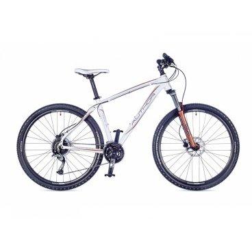 Женский горный велосипед AUTHOR Pegas ASL 2016Горные (MTB)<br>AUTHOR Pegas ASL 2016<br>Женская модель горного велосипеда Author Pegas. Индекс ASL обозначает не только другой цвет рамы, но и измененную ее геометрию. Модель позволяет отправиться в горы, покорить вершины, мчаться по серпантину, спускаться с крутого спуска на бешеной скорости, а, главное, при всем при этом гарантирует безопасность своей владелице.<br><br><br><br><br><br><br>Общие характеристики<br><br><br>Модель<br>2016 года<br><br><br>Тип<br>для взрослых, женская модель<br><br><br>Область применения<br>горный (MTB), кросс-кантри<br><br><br>Вес велосипеда<br>13.9 kg / 18<br><br><br>Рама, вилка<br><br><br>Материал рамы<br>алюминиевый сплав<br><br><br>Размеры рамы<br>14, 16, 18<br><br><br>Амортизация<br>Hard tail (с амортизационной вилкой)<br><br><br>Наименование мягкой вилки<br>RST Gila 27.5 ML<br><br><br>Конструкция вилки<br>пружинно-эластомерная<br><br><br>Уровень мягкой вилки<br>прогулочный<br><br><br>Ход вилки<br>100 мм<br><br><br>Регулировки вилки<br>жесткости пружины, блокировка хода<br><br><br>Конструкция рулевой колонки<br>интегрированная, безрезьбовая<br><br><br>Размер рулевой колонки<br>1 1/2<br><br><br>Колеса<br><br><br>Диаметр колес<br>27.5 дюймов<br><br><br>Наименование покрышек<br>Author Speed Master, 27.5x2.0<br><br><br>Наименование ободов<br>Author Radon<br><br><br>Материал обода<br>алюминиевый сплав<br><br><br>Двойной обод<br>есть<br><br><br>Торможение<br><br><br>Наименование переднего тормоза<br>Tektro Auriga, 160mm<br><br><br>Тип переднего тормоза<br>дисковый гидравлический<br><br><br>Уровень переднего тормоза<br>спортивный<br><br><br>Наименование заднего тормоза<br>Tektro Auriga, 160mm<br><br><br>Тип заднего тормоза<br>дисковый гидравлический<br><br><br>Уровень заднего тормоза<br>спортивный<br><br><br><br>Трансмиссия<br><br><br>Количество скоростей<br>27<br><br><br>Уровень заднего переключателя<br>прогулочный<br><br><br>Наименование заднего переключателя<br>Shimano Acera<br><br><br>Ур