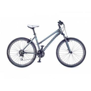 Женский горный велосипед AUTHOR Quanta 2016Горные (MTB)<br>Author Quanta 2016<br>Author Quanta представляет собой яркую женскую модель горного типа. Этот велосипед станет хорошим «спутником» на любых дорогах. Благодаря легкой и заниженной раме из алюминиевого сплава модель максимально удобна и функциональная. Пружинно-эластомерная амортизация представлена вилкой RST Gila, поэтому проблем с управляемостью не возникнет. О безопасности пользователя производитель позаботился, укомплектовав эту модель тормозами Tektro и износостойкими покрышками Author Speed Master. Для дополнительного комфорта модель оборудована мягким укороченным седлом, регулируемым рулем, антискользящими педалями и ручками.<br><br><br><br><br><br><br>Общие характеристики<br><br><br>Модель<br>2016 года<br><br><br>Тип<br>для взрослых, женская модель<br><br><br>Область применения<br>горный (MTB), кросс-кантри<br><br><br>Вес велосипеда<br>13.8 kg / 18<br><br><br>Рама, вилка<br><br><br>Материал рамы<br>алюминиевый сплав<br><br><br>Размеры рамы<br>16, 18<br><br><br>Амортизация<br>Hard tail (с амортизационной вилкой)<br><br><br>Наименование мягкой вилки<br>RST Gila T 26<br><br><br>Конструкция вилки<br>пружинно-эластомерная<br><br><br>Уровень мягкой вилки<br>прогулочный<br><br><br>Ход вилки<br>80 мм<br><br><br>Регулировки вилки<br>жесткости пружины<br><br><br>Конструкция рулевой колонки<br>интегрированная, безрезьбовая<br><br><br>Размер рулевой колонки<br>1 1/8<br><br><br>Колеса<br><br><br>Диаметр колес<br>26 дюймов<br><br><br>Наименование покрышек<br>Author Speed Master, 26x2.0<br><br><br>Наименование ободов<br>Author Argon<br><br><br>Материал обода<br>алюминиевый сплав<br><br><br>Двойной обод<br>есть<br><br><br>Торможение<br><br><br>Наименование переднего тормоза<br>Tektro 855<br><br><br>Тип переднего тормоза<br>V-Brake<br><br><br>Уровень переднего тормоза<br>прогулочный<br><br><br>Наименование заднего тормоза<br>Tektro 855<br><br><br>Тип заднего тормоза<br>V-Brake<br><br><br>Уровень заднего тормоза<br>про