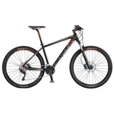 Горный велосипед Scott Aspect 710 2016Горные (MTB)<br>Scott Aspect 710 2016<br>Легкий хардтейл для кросс-кантри с колесами 27.5 дюймов (650B). Алюминиевая рама с внутренней прокладкой кабелей и спортивная трансмиссия Shimano Deore/Deore XT 3x10. Велосипед Scott Aspect 910 подойдет начинающим спортсменам для тренировок и отдыха.  <br><br><br><br><br><br><br>Общие характеристики<br><br><br>Модель<br>2016 года<br><br><br>Тип<br>для взрослых<br><br><br>Область применения<br>горный (MTB), кросс-кантри<br><br><br>Вес велосипеда<br>13.6 кг<br><br><br>Рама, вилка<br><br><br>Материал рамы<br>алюминиевый сплав<br><br><br>Размеры рамы<br>14.0, 15.55, 17.32, 18.89, 20.86<br><br><br>Амортизация<br>Hard tail (с амортизационной вилкой)<br><br><br>Наименование мягкой вилки<br>RockShox 30 Silver TK Solo Air 27.5<br><br><br>Конструкция вилки<br>воздушно-масляная<br><br><br>Уровень мягкой вилки<br>спортивный <br><br><br>Ход вилки<br>100 мм<br><br><br>Регулировки вилки<br>жесткости пружины, скорости обратного хода, блокировка хода<br><br><br>Другие регулировки<br>PopLoc Remote, TurnKey Lockout<br><br><br>Конструкция рулевой колонки<br>безрезьбовая<br><br><br>Колеса<br><br><br>Диаметр колес<br>27.5 дюймов<br><br><br>Наименование покрышек<br>Kenda Slant 6, 27.5x2.1, 30TPI<br><br><br>Наименование ободов<br>Syncros X-37 Disc<br><br><br>Материал обода<br>алюминиевый сплав<br><br><br>Двойной обод<br>есть<br><br><br>Торможение<br><br><br>Наименование переднего тормоза<br>Shimano BR-M447, 180mm<br><br><br>Тип переднего тормоза<br>дисковый гидравлический<br><br><br>Уровень переднего тормоза<br>спортивный<br><br><br>Наименование заднего тормоза<br>Shimano BR-M447, 180mm<br><br><br>Тип заднего тормоза<br>дисковый гидравлический<br><br><br>Уровень заднего тормоза<br>спортивный<br><br><br><br>Трансмиссия<br><br><br>Количество скоростей<br>30<br><br><br>Уровень заднего переключателя<br>полупрофессиональный<br><br><br>Наименование заднего переключателя<br>Shimano Deore XT RD-M781-SGS Shadow<br><br><b