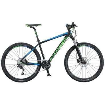 Горный велосипед Scott Aspect 720 2016Горные (MTB)<br>Scott Aspect 720 2016<br>Довольно яркий и стильный горный велосипед Scott Aspect 720 2016, 27.5 дюймовыми колесами. Велосипед обладает отличным накатом, что позволит затрачивать намного меньше сил. Так же модель имеет 30 скоростей и дисковые гидравлические тормоза. <br><br><br><br><br><br><br>Общие характеристики<br><br><br>Модель<br>2016 года<br><br><br>Тип<br>для взрослых<br><br><br>Область применения<br>горный (MTB), кросс-кантри<br><br><br>Вес велосипеда<br>14 кг<br><br><br>Рама, вилка<br><br><br>Материал рамы<br>алюминиевый сплав<br><br><br>Размеры рамы<br>14.0, 15.55, 17.32, 18.89, 20.86<br><br><br>Амортизация<br>Hard tail (с амортизационной вилкой)<br><br><br>Наименование мягкой вилки<br>SR Suntour XCR-RL-R-27.5<br><br><br>Конструкция вилки<br>пружинно-масляная<br><br><br>Уровень мягкой вилки<br>спортивный <br><br><br>Ход вилки<br>100 мм<br><br><br>Регулировки вилки<br>жесткости пружины, скорости обратного хода, блокировка хода<br><br><br>Другие регулировки<br>Remote Lockout<br><br><br>Конструкция рулевой колонки<br>безрезьбовая<br><br><br>Колеса<br><br><br>Диаметр колес<br>27.5 дюймов<br><br><br>Наименование покрышек<br>Kenda Slant 6, 27.5x2.1, 30TPI<br><br><br>Наименование ободов<br>Syncros X-37 Disc<br><br><br>Материал обода<br>алюминиевый сплав<br><br><br>Двойной обод<br>есть<br><br><br>Торможение<br><br><br>Наименование переднего тормоза<br>Shimano BR-M396, 180mm<br><br><br>Тип переднего тормоза<br>дисковый гидравлический<br><br><br>Уровень переднего тормоза<br>спортивный<br><br><br>Наименование заднего тормоза<br>Shimano BR-M396, 180mm<br><br><br>Тип заднего тормоза<br>дисковый гидравлический<br><br><br>Уровень заднего тормоза<br>спортивный<br><br><br>Возможность крепления дискового тормоза<br>рама, вилка, втулки<br><br><br>Трансмиссия<br><br><br>Количество скоростей<br>30<br><br><br>Уровень заднего переключателя<br>спортивный<br><br><br>Наименование заднего переключателя<br>Shimano Deore RD-M610-SGS