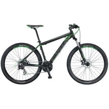 Горный велосипед Scott Aspect 770 2016Горные (MTB)<br>Scott Aspect 770 2016<br>Новый Scott Aspect - это легкий хардтейл для маунтинбайка, разработанный с учетом передовых технологий компании Scott. Его новая алюминиевая рама, в совокупности с компонентами Syncros предлагают высокий уровень надежности и комфорта. Scott Aspect 770 - доступный по цене хардтейл с колесами 27.5 дюймов для начинающих велосипедистов, предпочитающих катание по бездорожью.<br><br><br><br><br><br><br>Общие характеристики<br><br><br>Модель<br>2016 года<br><br><br>Тип<br>для взрослых<br><br><br>Область применения<br>горный (MTB), кросс-кантри<br><br><br>Вес велосипеда<br>13.8 кг<br><br><br>Рама, вилка<br><br><br>Материал рамы<br>алюминиевый сплав<br><br><br>Размеры рамы<br>14.0, 15.55, 17.32, 18.89, 20.86<br><br><br>Амортизация<br>Hard tail (с амортизационной вилкой)<br><br><br>Наименование мягкой вилки<br>HL Zoom 565-27.5<br><br><br>Конструкция вилки<br>пружинно-эластомерная<br><br><br>Уровень мягкой вилки<br>начальный<br><br><br>Ход вилки<br>100 мм<br><br>Конструкция рулевой колонки<br>безрезьбовая<br><br><br>Колеса<br><br><br>Диаметр колес<br>27.5 дюймов<br><br><br>Наименование покрышек<br>Kenda Slant 6, 27.5x2.1, 30TPI<br><br><br>Наименование ободов<br>Syncros X-37 Disc<br><br><br>Материал обода<br>алюминиевый сплав<br><br><br>Двойной обод<br>есть<br><br><br>Торможение<br><br><br>Наименование переднего тормоза<br>Tektro SCM-02, 160mm<br><br><br>Тип переднего тормоза<br>дисковый механический<br><br><br>Уровень переднего тормоза<br>прогулочный<br><br><br>Наименование заднего тормоза<br>Tektro SCM-02, 160mm<br><br><br>Тип заднего тормоза<br>дисковый механический<br><br><br>Уровень заднего тормоза<br>прогулочный<br><br><br>Возможность крепления дискового тормоза<br>рама, вилка, втулки<br><br><br>Трансмиссия<br><br><br>Количество скоростей<br>21<br><br><br>Уровень заднего переключателя<br>начальный<br><br><br>Наименование заднего переключателя<br>Shimano Tourney RD-TX35<br><br><br>Уровень передн