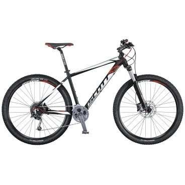 Горный велосипед Scott Aspect 930 2016Горные (MTB)<br>Scott Aspect 930 2016<br>Модель Scott Aspect 930 - это горный велосипед, хардтеил, разработанный с целью быть легким и эффективным при доступной цене. Благодаря выведенному на руль механизму блокировки вилки, дисковым тормозам и компонентам Syncros, это идеальный горный велосипед для новичков или тех, кто хочет сэкономить.<br><br><br><br><br><br><br>Общие характеристики<br><br><br>Модель<br>2016 года<br><br><br>Тип<br>для взрослых<br><br><br>Область применения<br>горный (MTB), кросс-кантри<br><br><br>Вес велосипеда<br>14.5 кг<br><br><br>Рама, вилка<br><br><br>Материал рамы<br>алюминиевый сплав<br><br><br>Размеры рамы<br>15.55, 17.32, 18.89, 20.86, 22.83<br><br><br>Амортизация<br>Hard tail (с амортизационной вилкой)<br><br><br>Наименование мягкой вилки<br>SR Suntour XCR-RL-R-29<br><br><br>Конструкция вилки<br>пружинно-масляная<br><br><br>Уровень мягкой вилки<br>спортивный<br><br><br>Ход вилки<br>100 мм<br><br><br>Регулировки вилки<br>жесткости пружины, скорости обратного хода, блокировка хода<br><br><br>Другие регулировки<br>Remote Lockout<br><br>Конструкция рулевой колонки<br>безрезьбовая<br><br><br>Колеса<br><br><br>Диаметр колес<br>29 дюймов<br><br><br>Наименование покрышек<br>Kenda Slant 6, 29x2.2, 30TPI<br><br><br>Наименование ободов<br>Syncros X-39 Disc<br><br><br>Материал обода<br>алюминиевый сплав<br><br><br>Двойной обод<br>есть<br><br><br>Торможение<br><br><br>Наименование переднего тормоза<br>Shimano BR-M355, 180mm<br><br><br>Тип переднего тормоза<br>дисковый гидравлический<br><br><br>Уровень переднего тормоза<br>спортивный<br><br><br>Наименование заднего тормоза<br>Shimano BR-M355, 180mm<br><br><br>Тип заднего тормоза<br>дисковый гидравлический<br><br><br>Уровень заднего тормоза<br>спортивный<br><br><br>Возможность крепления дискового тормоза<br>рама, вилка, втулки<br><br><br>Трансмиссия<br><br><br>Количество скоростей<br>27<br><br><br>Уровень заднего переключателя<br>спортивный<br><br><br>Наименование 