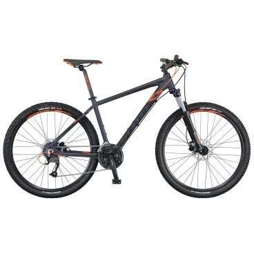 Горный велосипед Scott Aspect 950 2016Горные (MTB)<br>Scott Aspect 950 2016<br>Scott Aspect 950 - горный велосипед любительского уровня для езды по пересеченной местности с колесами 29 дюймов. Этот найнер отлично подходит для повседневного использования.24-х скоростная трансмиссия начального уровня и дисковые гидравлические тормоза вполне подойдут для походов выходного дня или для поездок по городу.Прочная и легкая алюминиевая рама SCOTT не боится коррозии, а при своевременной замене расходников и квалифицированном сервисном обслуживании велосипед прослужит верой и правдой многие годы.<br><br><br><br><br><br><br>Общие характеристики<br><br><br>Модель<br>2016 года<br><br><br>Тип<br>для взрослых<br><br><br>Область применения<br>горный (MTB), кросс-кантри<br><br><br>Вес велосипеда<br>14.9 кг<br><br><br>Рама, вилка<br><br><br>Материал рамы<br>алюминиевый сплав<br><br><br>Размеры рамы<br>15.55, 17.32, 18.89, 20.86, 22.83<br><br><br>Амортизация<br>Hard tail (с амортизационной вилкой)<br><br><br>Наименование мягкой вилки<br>SR Suntour XCT-HLO-29<br><br><br>Конструкция вилки<br>пружинно-масляная<br><br><br>Уровень мягкой вилки<br>спортивный<br><br><br>Ход вилки<br>100 мм<br><br><br>Регулировки вилки<br>жесткости пружины, блокировка хода<br><br>Конструкция рулевой колонки<br>безрезьбовая<br><br><br>Колеса<br><br><br>Диаметр колес<br>29 дюймов<br><br><br>Наименование покрышек<br>Kenda Slant 6, 29x2.2, 30TPI<br><br><br>Наименование ободов<br>Syncros X-39 Disc<br><br><br>Материал обода<br>алюминиевый сплав<br><br><br>Двойной обод<br>есть<br><br><br>Торможение<br><br><br>Наименование переднего тормоза<br>Tektro SCH-F15, 160mm<br><br><br>Тип переднего тормоза<br>дисковый гидравлический<br><br><br>Уровень переднего тормоза<br>спортивный<br><br><br>Наименование заднего тормоза<br>Tektro SCH-F15, 160mm<br><br><br>Тип заднего тормоза<br>дисковый гидравлический<br><br><br>Уровень заднего тормоза<br>спортивный<br><br><br>Возможность крепления дискового тормоза<br>рама, вилка, втулки<br