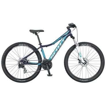 Женский горный велосипед Scott Contessa 740 2016Горные (MTB)<br>Scott Contessa 740 2016<br>SCOTT Contessa 740 - горный велосипед на колесах нового стандарта - 27,5, на достаточно легкой, но прочной алюминиевой раме, созданный специально для женщин и с учетом особенностей женского тела. Специально разработанная геометрия рамы Solution geometry будет удобна как для женщин, ведущих активный образ жизни, так и для для любительниц изредка прокатиться в парке, а то и отправиться с компанией в несложный велопоход. Трансмиссия с переключателем Shimano Tourney RD-TX35 и 21 скоростью достаточно надежна, а надежные  тормоза Tektro SCM-02 mech. disc 160F/160Rmm Rotor обеспечат отличное, предсказуемое замедление. Амортизационная вилка HL Zoom 565 с ходом 100 мм придаст дополнительный комфорт Вашей поездке. SCOTT Contessa 740 - велосипед начального уровня, подойдет для женщин, предпочитающих прогулки в парке или в городе.<br><br><br><br><br><br><br><br>Общие характеристики<br><br><br>Модель<br>2016 года<br><br><br>Тип<br>для взрослых, женская модель<br><br><br>Область применения<br>горный (MTB), кросс-кантри<br><br><br>Рама, вилка<br><br><br>Материал рамы<br>Contessa Active 700 series / 6061 Alloy / Solution geometry<br><br><br>Размеры рамы<br>XS, S, M, L<br><br><br>Амортизация<br>Hard tail (с амортизационной вилкой)<br><br><br>Наименование мягкой вилки<br>HL Zoom 565 100mm travel<br><br><br>Ход вилки<br>100 мм<br><br><br>Рулевая колонка<br>GW 1SI110 OE integ.<br><br><br>Колеса<br><br><br>Диаметр колес<br>27,5 дюймов<br><br><br>Наименование покрышек<br>Kenda Slant 6/ 27.5x2.1 / 30TPI<br><br><br>Наименование ободов<br>Syncros X-37 Disc 32H<br><br><br>Торможение<br><br><br>Тип тормозов<br>дисковый<br><br><br>Тормоза<br>Tektro SCM-02 mech. disc 160F/160Rmm Rotor<br><br><br>Трансмиссия<br><br><br>Количество скоростей<br>21<br><br><br>Наименование заднего переключателя<br>Shimano Tourney RD-TX35 21 Speed<br><br><br>Наименование переднего переключателя<br>Shimano FD-TX 50 / 34.9mm<br><