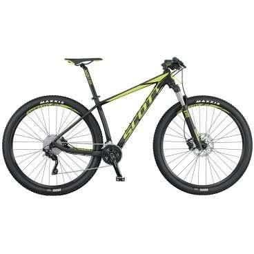 Горный велосипед Scott Scale 760 2016Горные (MTB)<br>Scott Scale 760 2016<br>SCOTT SCALE 760 собран на колесах нового стандарта - 27,5(650B), укомплектован воздушной амортизационной вилкой Rock Shox 30 Silver, отличающейся от своих старших собратьев не только чуть более простой конструкцией, но и диаметром ног, который составляет 30 мм, вместо привычных 32 мм.Самая легкая в своем классе  алюминиевая рама SCALE 760 полностью повторяет продуманную и хорошо зарекомендовавшую себя геометрию карбоновых SCALE. Велосипед  укомплектован 20-ти скоростной трансмиссией любительско уронвня, воздушной вилкой и гидравлическими дисковыми тормозами. SCOTT SCALE 760 подойдет тем, кто при минимальных вложениях хочет получить основу для настоящего гоночного хардтейла с возможностью дальнейшего ап-грейда.<br>Удачное решение использовать колеса диаметром 27,5(650B) позволили увеличить накат, инерционность и площаль сцепления, по равнению с колесами 26, но при этом снизить массу вращения по сравнению с колесами 29<br>Отличная рама, воздушная вилка Rock Shox 30 Silver с блокировкой, тормоза Shimano, компоненты Syncros <br><br><br><br><br><br><br>Общие характеристики<br><br><br>Модель<br>2016 года<br><br><br>Тип<br>для взрослых<br><br><br>Область применения<br>горный (MTB), кросс-кантри<br><br><br>Вес велосипеда<br>12.5 кг<br><br><br>Рама, вилка<br><br><br>Материал рамы<br>алюминиевый сплав<br><br><br>Размеры рамы<br>14.0, 15.35, 17.32, 18.89, 20.86<br><br><br>Амортизация<br>Hard tail (с амортизационной вилкой)<br><br><br>Наименование мягкой вилки<br>RockShox 30 Silver TK Solo Air Tapered<br><br><br>Конструкция вилки<br>воздушно-масляная<br><br><br>Уровень мягкой вилки<br>спортивный<br><br><br>Ход вилки<br>100 мм<br><br><br>Регулировки вилки<br>жесткости пружины, скорости обратного хода, блокировка хода<br><br><br>Другие регулировки<br>PopLoc Remote<br><br><br>Конструкция рулевой колонки<br>полуинтегрированная, безрезьбовая<br><br><br>Размер рулевой колонки<br>1 1/8- 1 1/2<br><br><br>Колес