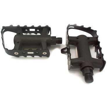 Педали TBS KP-947A/S, МТВ, пластик/сталь, 9/16, с подшипниками, 99х61мм, чёрные, KP-947A/SПедали для велосипедов<br>пластик, стальная рамка, с подшипниками, 9/16, чёрные, 99*61мм<br>