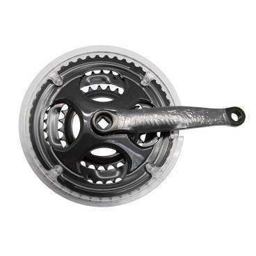 Система велосипедная CYCLONE CTS3-TS330G13P18, под квадрат 28/38/48Тх170мм, сталь, CTS3-TS330G13P18Системы<br>Система CYCLONE CTS3-TS330G13P18, под квадрат, 28/38/48Т, длина шатуна 170 мм, сталь, черные<br>