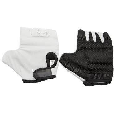 Перчатки кожаные TBS B-35, низ с наполнителем, лайкровый верх, обрезанные пальцы, цветные, L, B-35Велоперчатки<br>Первое, что Вы должны&amp;nbsp;сделать, планируя обучение езде на байке,&amp;nbsp;приобрести&amp;nbsp;средства защиты&amp;nbsp;шлем,&amp;nbsp;наколенники,&amp;nbsp;перчатки.&amp;nbsp;  ВЕЛООЛИМП предлагает линейку перчаток с обрезанными пальцами, изготовленную из мягкой свиной кожи и легкой вентилируемой лайкры на тыльной стороне.&amp;nbsp;  Ладонь сконструирована специальным образом. Самые подверженные натиранию места на ладони защищены мягкими подушечками с наполнителем.&amp;nbsp;  Перчатки легко моются и высыхают за секунду. Благодаря используемым качественным материалам, перчатки не теряют форму и очень долго носятся.     Материал:&amp;nbsp;свиная кожа/лайкра.  Тип:&amp;nbsp;без пальцев.  Цвет:&amp;nbsp;розовый/сиреневый.  Рисунок:&amp;nbsp;разводы.  Размер:&amp;nbsp;L.  <br><br>Ширина лодони: 100 мм<br>Длина среднего пальца: 30 мм.<br>