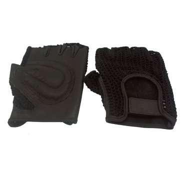 Перчатки кожаные TBS H-2, кожа/полиэстер, тыльная сторона сетчатая, размер: L, H-2Велоперчатки<br>Для защиты кисти рук во время передвижения или падения используйте велопрерчатки.&amp;nbsp;  Для лучшей вентиляции у перчаток отрезаны пальцы - это раз, сетка на тыльной поверхности - это два.&amp;nbsp;  Сторона ладони сконструирована под форму&amp;nbsp;ладони&amp;nbsp;и имеет&amp;nbsp;мягкие накладки.&amp;nbsp;  Застежка в виде ремешка с липучкой, для возможности регуляции&amp;nbsp;на&amp;nbsp;запястье     Перчатки&amp;nbsp;TBS&amp;nbsp;H-2:  Материал:&amp;nbsp;сетчатый полиэстер, синтетическая кожа.  Тип:&amp;nbsp;без пальцев.  Цвет:&amp;nbsp;чёрный.  Размер:&amp;nbsp;L.<br>