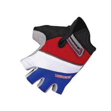 Перчатки TBS E-CG250K-BL, теплопроводящие и отражающие элементы, М,  E-CG250K-BL(M)Велоперчатки<br>При езде на горном велосипеде тело водителя находится в таком положении, что на руки оказывается большая нагрузка. Кроме того, катаясь по неровной дороге, происходит вибрация, и перчатки как ничто лучше уменьшают трение рук об руль.&amp;nbsp;  От падения с байка не застрахован никто - ни продвинутый райдер, ни начинающий малыш. Перчатки сгладят удар, уберегут ладони от повреждений.&amp;nbsp;  Яркие беспалые перчатки в полоску изготовлены из искусственной кожи с мягкими вставками и из прочного спандекса.     Материал:&amp;nbsp;искуственная кожа/спандекс.  Тип:&amp;nbsp;без пальцев.  Цвет:&amp;nbsp;красный/белый/синий  Рисунок:&amp;nbsp;полоски.  Размер:&amp;nbsp;М (7х10,7см).<br>