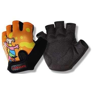 Перчатки TBS HP10, детские,  полиэстер, виниловая кожа, амортизирующие вставки, L, HP10(L)Велоперчатки<br>Детские перчатки с забавным мультяшным дракончиком несомненно понравятся Вашему ребенку. А Вам понравится то, что они отлично защищают ручки Вашего ребенка от ссадин и царапин при нередких падениях, а так же несут профилактическую функцию - защита от появления мозолей на ладошках.  Перчатки HP 10&amp;nbsp;прекрасно подходят для носки даже с самую знойную погоду, ведь они изготовлены из полиэстера, который по своим вентиляционным свойствам схож с хлопком, но гораздо практичнее хлопковых тканей.     Перчатки детские&amp;nbsp;TBS&amp;nbsp;HР 10:  Материал:&amp;nbsp;полиэстер, виниловая кожа.  Тип:&amp;nbsp;без пальцев.  Цвет:&amp;nbsp;чёрный/оранжевый.  Рисунок:&amp;nbsp;дракончик.  Размер:&amp;nbsp;L (9х12,5см).<br>