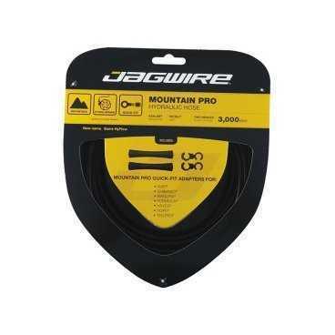 Гидролиния JAGWIRE для тормозов 3м, с универсальными адаптерами Quick fit, черная, HBK400Тросики и Рубашки<br>JAGWIRE Гидролиния для тормозов 3м черная с универсальными адаптерами Quick fit<br>