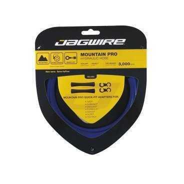 Гидролиния JAGWIRE для тормозов 3м, синяя, с универсальными адаптерами Quick fit, HBK404Тросики и Рубашки<br>3 метра, синяя<br>