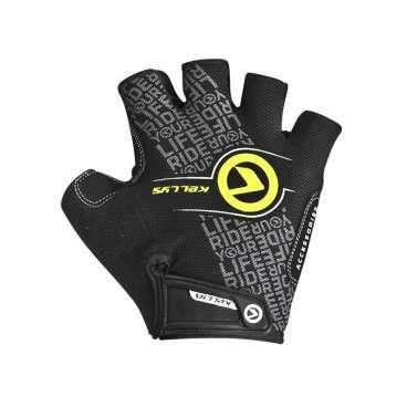 Перчатки KELLYS COMFORT, без пальцев, чёрный/салатовый, S, Gloves COMFORT NEW black-lime SВелоперчатки<br>Велоперчатки - надежный и проверенный годами элемент экипировки велосипедиста. И не важно, большой велосипедист или совсем юный.&amp;nbsp;  Одновременно с шлемом, налокотниками и наколеннимами, перчатки защищают малыша при падении.&amp;nbsp;  Как известно, самыми часто страдающими от падения частями тела являются кисти рук, ведь по инерции мы при падении выставляем вперед именно их.&amp;nbsp;  KELLYS COMFORT&amp;nbsp;- это линейка перчаток без пальцев для детей.&amp;nbsp;  Тыльная сторона изготовлена из лайкры. На ней имеется светоотражающий кант&amp;nbsp;и&amp;nbsp;логотип компании-производителя KELLYS. Расцветки - на любой вкус.&amp;nbsp;  Ладонь изготовлена из сетчатого полиэстера с мягкими накладками из синтетической кожи.     Перчатки детские&amp;nbsp;KELLYS COMFORT:  Материал:&amp;nbsp;лайкра, полиэстер, синтетическая кожа.  Тип:&amp;nbsp;без пальцев.  Цвет:&amp;nbsp;чёрный, салатовый.  Размер:&amp;nbsp;S.<br>