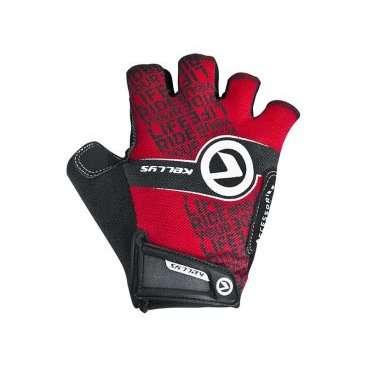 Перчатки KELLYS COMFORT, без пальцев, красный, М, Gloves COMFORT NEW red МВелоперчатки<br>Коллекция перчаток&amp;nbsp;KELLYS COMFORTобеспечивает абсолютный контроль над управлением байком благодаря не скользящим накладкам на ладонях из синтетической кожи AMARA с мягкой набивкой.  Даже жарким днем рукам будет комфортно под перчаткой, ведь и тыльная сторона и сторона ладоней изготовлены из материалов с отличной вентиляцией. Верх - лайкра, ладонь - сетчатый полиэстер.  Удобная застежка на липучке позволит отрегулировать размер на запястье.  Тыльная сторона ладони яркая, с логотипом компании-производителя KELLYS.  Использование велоперчаток во время передвижения на велосипеде убережет руки от травм при падении и от ненавистных мозолей.     Перчатки:&amp;nbsp;KELLYS COMFORT.  Материал:&amp;nbsp;лайкра, полиэстер, синтетическая кожа.  Тип:&amp;nbsp;без пальцев.  Цвет:&amp;nbsp;чёрный, красный.  Размер:&amp;nbsp;L.<br>