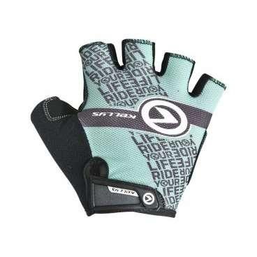 Перчатки KELLYS COMFORT, без пальцев, бирюзовый, M, Gloves COMFORT NEW turquoise MВелоперчатки<br>Коллекция перчаток&amp;nbsp;KELLYS COMFORTобеспечивает абсолютный контроль над управлением байком благодаря не скользящим накладкам на ладонях из синтетической кожи AMARA с мягкой набивкой.  Даже жарким днем рукам будет комфортно под перчаткой, ведь и тыльная сторона и сторона ладоней изготовлены из материалов с отличной вентиляцией. Верх - лайкра, ладонь - сетчатый полиэстер.  Удобная застежка на липучке позволит отрегулировать размер на запястье.  Тыльная сторона ладони яркая, с логотипом компании-производителя KELLYS.  Использование велоперчаток во время передвижения на велосипеде убережет руки от травм при падении и от ненавистных мозолей.     Перчатки:&amp;nbsp;KELLYS COMFORT.  Материал:&amp;nbsp;лайкра, полиэстер, синтетическая кожа.  Тип:&amp;nbsp;без пальцев.  Цвет:&amp;nbsp;чёрный, бирюзовый.  Размер:&amp;nbsp;М.<br>
