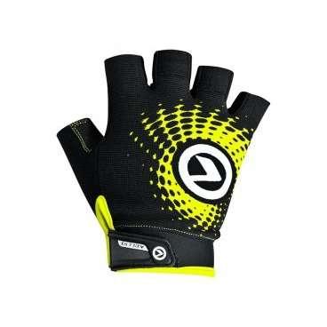 Перчатки KELLYS IMPACT SHORT Lycra, чёрный/зелёный, M, Gloves IMPACT SHORT Lycra black-green, MВелоперчатки<br>Благодаря тому, что&amp;nbsp;перчатки IMPACT SHORT&amp;nbsp;изготовлены из лайкры, эта модель имеет отличную посадку, сидит на руке как вторая кожа.&amp;nbsp;  Новая конструкция ладони оптимизирует хват руля. На стороне ладоней нанесены силиконовые принты для обеспечения наилучшего контроля.&amp;nbsp;  Для простого и быстрого одевания сторона ладони имеет удлиненный язычок с силиконовым логотипом.&amp;nbsp;  Браслет с липучкой на запястье&amp;nbsp;обеспечивает надежную фиксацию&amp;nbsp;и дает возможность регулировки&amp;nbsp;по&amp;nbsp;размеру&amp;nbsp;запястья.&amp;nbsp;  В области большого пальца вставка из махрового материала.&amp;nbsp;  Тыльная сторона украшена ярким изображением логотипа компании KELLYS.     Перчатки&amp;nbsp;KELLYS IMPACT SHORT Lyra:  Материал:&amp;nbsp;лайкра.  Тип:&amp;nbsp;без пальцев.  Цвет:&amp;nbsp;чёрный/зелёный.  Размер:&amp;nbsp;М.<br>