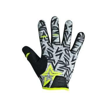 Перчатки KELLYS IMPULS long, салатовые, XL, Gloves IMPULS long  lime green XLВелоперчатки<br>IMPULSE LONG&amp;nbsp;- универсальная модель перчаток для велоспорта, изготовленная из лайкрового тянущегося материала Fourway.  Ладонь сформирована специальным образом, обеспечивает удобный захват руля. Сторона ладони выполнена из мягкой синтетической кожи с гелевыми накладками и силиконовым принтом.&amp;nbsp;  Силиконовая печать присутствует на всей поверхности ладони, даже на кончиках пальцев - это залог отличного сцепления руль-рука.  Для быстрого и простого натягивания перчатки предусмотрен удлиненный язычок и 3D логотипом.  На пальцах - большом, указательном и среднем, имеются специальные прорези для свободы движений.&amp;nbsp;  Манжет из компрессионного материала плотно прилегает к запястью.     Перчатки&amp;nbsp;KELLYS IMPULS long:  Материал:&amp;nbsp;полиэстер, синтетическая кожа.  Цвет:&amp;nbsp;серый/салатовый.  Размер:&amp;nbsp;ХL.  Дополнительно:&amp;nbsp;прорези на пальцах для свободы движений.<br>