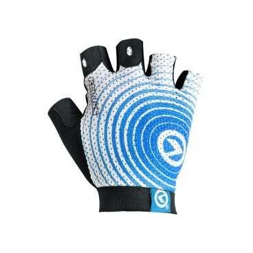 Перчатки KELLYS INSTINCT short, без пальцев,  бело-синие, M, Gloves INSTINCT short , white/blue MВелоперчатки<br>Вело перчатки созданы не для согревания рук, как обычные перчатки. Они наделены более важной миссией - защита от мозолей и повреждений кожи рук, вызванных падением.  Для того, чтобы Ваши руки были в порядке, и Вы оставили в прошлом все, что связано с натиранием и мозолями, короткопалые&amp;nbsp;перчатки KELLYS INSTINCT shortснабжены мягкими подушечками в области ладони&amp;nbsp;c гелем.  Для лучшего сцепления с рулем, а значит, и лучшей управляемости, на ладонях проштампован силиконовый рисунок.  Для улучшения вентиляции - поверхность перчаток изготовлена из сетчатого проветриваемого материала - лайкры.  Для простого и быстрого натягивания перчатки предусмотрен специальный удлиненный язычок с объемным логотипом.  Перчатки KELLYS INSTINCT short вобрали в себя только лучшие качества. Для Вашего комфорта!     Перчатки&amp;nbsp;KELLYS INSTINCT short:  Материал:&amp;nbsp;лайкра, синтетическая кожа.  Тип:&amp;nbsp;без пальцев.  Цвет:&amp;nbsp;белый/синий.  Размер:&amp;nbsp;М.<br>