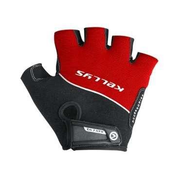 Перчатки KELLYS RACE, без пальцев, красные, L, Gloves RACE, Red, LВелоперчатки<br>Поберегите свои руки, приобретите защитные перчатки Kellys Race! От чего они смогут Вас уберечь?  От натирания ладоней до мозолей - раз. От скольжения влажных рук по рулю, что может привести к потере контроля над байком, - два. От травм и ссадин ладоней - три.  Этих доводов уже достаточно, чтобы немедленно сделать покупку в магазине ВЕЛООЛИМП, но есть и еще кое что.  Перчатки Kellys Race изготовлены только из качественных материалов. Верх - дышащий полиэстер, ладонь - воздушная сетка полиэфира с эргономичными накладками из синтетической кожи с мягкой набивкой.  На тыльной стороне перчаток нанесен логотип компании-производителя Kellysи вшит светоотражающий кант.     ПерчаткиKELLYS RACE:  Материал:полиэстер, синтетическая кожа.  Тип:без пальцев.  Цвет:красный, серый, черный.  Размер:L.<br>