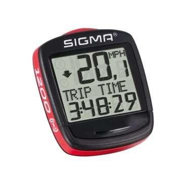 Велокомпьютер SIGMA Baseline 1200, беспроводной, на 12 функцийВелокомпьютеры<br>SIGMA Велокомпьютер Baseline 1200 беспроводной: скорость текущая/ макс./ средняя, сравнение макс.и средней; километраж общий/за день; время в поездке, общее время катания, часы, термометр, секундомер<br>