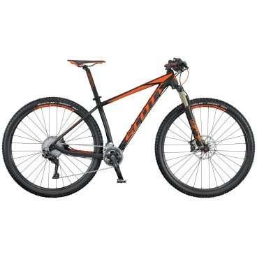 Горный велосипед Scott Scale 940 2016Горные (MTB)<br>Scott Scale 940 2016<br>SCOTT SCALE 940 собран на колесах  29, укомплектован воздушной амортизационной FOX  с тремя режимами работы. Самая легкая в своем классе  алюминиевая рама SCALE 940 полностью повторяет продуманную и хорошо зарекомендовавшую себя геометрию карбоновых SCALE, а вилка FOX является одной из лучших вилок на рынке.<br>Колеса диаметром 29 отлично подойдут мощным и выносливым велосипедистам, так имеют больший накат, проходимость, инерционность и площаль сцепления, по равнению с колесами 27,5, но при этом требуют больше мускоульных затрат<br>SCOTT SCALE 940 - верхняя модель SCALE на алюминиевой раме - отлично подойдет тем, кто еще не уверен в необходимости пересесть на велосипед с карбоновой рамой, но при этом привык пользоваться только лучшими вещами. Этот велосипед будет уверенно себя чувствовать всегда и везде: и на внедорожных соревнованиях, и в походе, и в городском парке..<br>Трансмиссия Shimano XT, сверхлёгкая алюминиевая рама, внутренняя разводка тросов, вилка  с тремя режимами работы, активируемые манеткой Shimano XT SL-M8000-B-I , тормоза Shimano disc, оптимизированная трансмиссия   2 х 10, компоненты Syncros <br><br><br><br><br><br><br><br><br>Общие характеристики<br><br><br>Модель<br>2016 года<br><br><br>Тип<br>для взрослых<br><br><br>Область применения<br>горный (MTB), кросс-кантри<br><br><br>Вес велосипеда<br>11,3 кг<br><br><br>Рама, вилка<br><br><br>Материал рамы<br>алюминиевый сплав<br><br><br>Размеры рамы<br>14.0, 15.35, 17.32, 18.89, 20.86<br><br><br>Амортизация<br>Hard tail (с амортизационной вилкой)<br><br><br>Наименование мягкой вилки<br>Fox 32 Float Performance Air FIT4 3-Modes<br><br><br>Конструкция вилки<br>воздушно-масляная<br><br><br>Уровень мягкой вилки<br>профессиональный<br><br><br>Ход вилки<br>100 мм<br><br><br>Регулировки вилки<br>жесткости пружины, скорости сжатия, скорости обратного хода, блокировка хода<br><br><br>Другие регулировки<br>Scott RideLoc Remote 3 modes<br