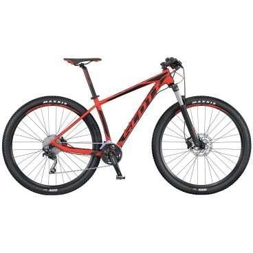 Горный велосипед Scott Scale 970 2016Горные (MTB)<br>Scott Scale 970 2016<br>SCOTT SCALE 970 собран на колесах 29, укомплектован воздушной амортизационной вилкой  Suntour XCR RL-R  с удаленной блокировкой. Легкая алюминиевая рама повторяет продуманную и хорошо зарекомендовавшую себя геометрию карбоновых SCALE. Велосипед  укомплектован тормоза Shimano disc и компонентами Syncros . SCOTT SCALE 970 подойдет тем, кто при минимальных вложениях хочет получить волне взроослый и эффективный хардтейл.<br>Колеса диаметром 29 отлично подойдут мощным и выносливым велосипедистам, так имеют больший накат, проходимость, инерционность и площаль сцепления, по равнению с колесами 27,5, но при этом требуют больше мускоульных затрат.<br>Специальный баттинг алюминиевого сплава 6061 придаёт надежность и снижает вес модели Scale 970. Компоненты начального уровня и спортивная геометрия рамы улучшают управляемость, очень схожую с карбоновыми моделями.<br>Лёгкая алюминиевая рама, вилка Suntour с удаленной блокировкой, тормоза Shimano disc, компоненты Syncros<br><br><br><br><br><br><br><br><br>Общие характеристики<br><br><br>Модель<br>2016 года<br><br><br>Тип<br>для взрослых<br><br><br>Область применения<br>горный (MTB), кросс-кантри<br><br><br>Вес велосипеда<br>13.3 кг<br><br><br>Рама, вилка<br><br><br>Материал рамы<br>алюминиевый сплав<br><br><br>Размеры рамы<br>15.35, 17.32, 18.89, 20.86<br><br><br>Амортизация<br>Hard tail (с амортизационной вилкой)<br><br><br>Наименование мягкой вилки<br>SR Suntour XCR-RL-R<br><br><br>Конструкция вилки<br>пружинно-масляная<br><br><br>Уровень мягкой вилки<br>спортивный<br><br><br>Ход вилки<br>100 мм<br><br><br>Регулировки вилки<br>жесткости пружины, скорости обратного хода, блокировка хода<br><br><br>Другие регулировки<br>Remote Lockout<br><br><br>Конструкция рулевой колонки<br>полуинтегрированная, безрезьбовая<br><br><br>Размер рулевой колонки<br>1 1/8- 1 1/2<br><br><br>Колеса<br><br><br>Диаметр колес<br>29 дюймов<br><br><br>Наименование покрышек<br>Maxxi
