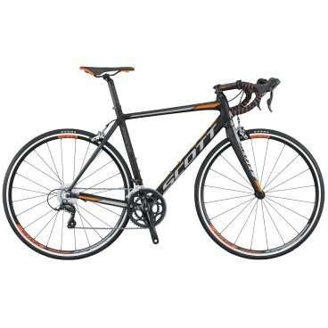 Шоссейный велосипед Scott Speedster 40 2016Шоссейные<br>Scott Speedster 40 2016<br>Шоссейный велосипед Scott Speedster 40 2016. Установлены вилка Speedster, а также профессиональное оборудование. Scott Speedster 40 2016 предназначен для скоростного катания по ровным дорожным покрытиям.<br><br><br><br><br><br><br>Общие характеристики<br><br><br>Модель<br>2016 года<br><br><br>Тип<br>для взрослых<br><br><br>Область применения<br>шоссейный<br><br><br>Вес велосипеда<br>9.82 кг<br><br><br>Рама, вилка<br><br><br>Материал рамы<br>алюминиевый сплав<br><br><br>Размеры рамы<br>18.50, 19.29, 20.47, 21.25, 22.04, 22.83, 24.01<br><br><br>Амортизация<br>отсутствует<br><br><br>Конструкция вилки<br>жесткая<br><br><br>Конструкция рулевой колонки<br>интегрированная, безрезьбовая<br><br><br>Размер рулевой колонки<br>1 1/8<br><br><br>Колеса<br><br><br>Диаметр колес<br>28 дюймов<br><br><br>Наименование покрышек<br>Kenda Kontender, 700x25c<br><br><br>Наименование ободов<br>Syncros Race 27 Aero<br><br><br>Материал обода<br>алюминиевый сплав<br><br><br>Двойной обод<br>есть<br><br><br>Торможение<br><br><br>Наименование переднего тормоза<br>Tektro SCBR-525<br><br><br>Тип переднего тормоза<br>клещевой<br><br><br>Уровень переднего тормоза<br>прогулочный<br><br><br>Наименование заднего тормоза<br>Tektro SCBR-525<br><br><br>Тип заднего тормоза<br>клещевой<br><br><br>Уровень заднего тормоза<br>прогулочный<br><br><br>Трансмиссия<br><br><br>Количество скоростей<br>18<br><br><br>Уровень заднего переключателя<br>спортивный<br><br><br>Наименование заднего переключателя<br>Shimano Sora RD-3500-SS<br><br><br>Уровень переднего переключателя<br>спортивный<br><br><br>Наименование переднего переключателя<br>Shimano Sora FD-3500<br><br><br>Уровень манеток<br>спортивные<br><br><br>Наименование манеток<br>Shimano Sora ST-3500<br><br><br>Конструкция манеток<br>Dual Control<br><br><br>Уровень каретки<br>прогулочные<br><br><br>Наименование каретки<br>Shimano BB-ES300A1<br><br><br>Конструкция каретки<br>неинтегриро