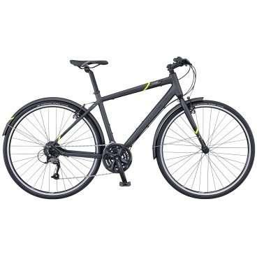 Городской велосипед Scott Sub Speed 30 2016Городские<br>SCOTT Sub Speed 30 2016<br>SUB – это Speed Utility Bike, что означает современный, яркий велосипед, созданный для ежедневных поездок на работу, в магазин и просто катания по городу. Рама оснащена специальными местами для установки набора крыльев и багажника SCOTT Urban-Kit, что позволяет сохранять ваш багаж чистым и сухим. <br><br><br><br><br><br><br>Общие характеристики<br><br><br>Модель<br>2016 года<br><br><br>Тип<br>для взрослых<br><br><br>Область применения<br>городской<br><br><br>Вес велосипеда<br>12.5 кг<br><br><br>Рама, вилка<br><br><br>Материал рамы<br>алюминиевый сплав<br><br><br>Размеры рамы<br>17.32, 18.89, 20.47, 21.65<br><br><br>Амортизация<br>отсутствует<br><br><br>Конструкция вилки<br>жесткая<br><br><br>Конструкция рулевой колонки<br>полуинтегрированная, безрезьбовая<br><br><br>Колеса<br><br><br>Диаметр колес<br>28 дюймов<br><br><br>Наименование покрышек<br>Maxxis, 700x37c<br><br><br>Наименование ободов<br>GX02<br><br><br>Материал обода<br>алюминиевый сплав<br><br><br>Двойной обод<br>есть<br><br><br>Материал бортировочного шнура<br>металл<br><br><br>Торможение<br><br><br>Наименование переднего тормоза<br>ProMax TX-107L<br><br><br>Тип переднего тормоза<br>V-Brake<br><br><br>Уровень переднего тормоза<br>прогулочный<br><br><br>Наименование переднего тормоза<br>ProMax TX-107L<br><br><br>Тип заднего тормоза<br>V-Brake<br><br><br>Уровень заднего тормоза<br>прогулочный<br><br><br>Возможность крепления дискового тормоза<br>рама<br><br><br>Трансмиссия<br><br><br>Количество скоростей<br>24<br><br><br>Уровень заднего переключателя<br>прогулочный<br><br><br>Наименование заднего переключателя<br>Shimano Altus RD-M370<br><br><br>Уровень переднего переключателя<br>начальный<br><br><br>Наименование переднего переключателя<br>Shimano FD-M191, 34.9mm Clamp<br><br><br>Уровень манеток<br>прогулочные<br><br><br>Наименование манеток<br>Shimano ST-EF51A-8 EZ-Fire Plus<br><br><br>Конструкция манеток<br>триггерные двухры