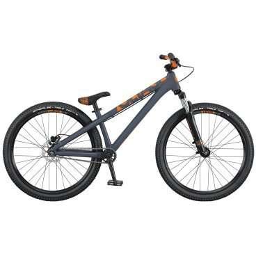Горный велосипед Scott Voltage YZ 0.2 2016Горные (MTB)<br>SCOTT Voltage YZ 0.2 2016<br>SCOTT Voltage YZ 0.2 - высококлассная реплика профессиональной модели - отличный велосипед для дёрта и стрита. Выполняя прыжки и трюки можно быь уверенным в надежности и качестве всех  элементов этого синглспида.<br>Жесткая и прочная гидроформованная рама из алюминиевого сплава 6061.<br>Вилка RST Dirt с ходом 80мм.<br>Каретка BB92, ультракороткие нижние перья, конический рулевой узел, топовые компоненты.<br>Гидравлические  дисковые тормоза Tektro SCH-F15 с ротором 160мм.<br>Односкоростная трансмиссия.<br>Рекомендуется всем любителям адреналина.  <br><br><br><br><br><br><br><br><br>Общие характеристики<br><br><br>Модель<br>2016 года<br><br><br>Тип<br>для взрослых<br><br><br>Область применения<br>горный (MTB), дёрт<br><br><br>Вес велосипеда<br>13.3 кг<br><br><br>Рама, вилка<br><br><br>Материал рамы<br>алюминиевый сплав<br><br><br>Амортизация<br>Hard tail (с амортизационной вилкой)<br><br><br>Наименование мягкой вилки<br>RST Dirt<br><br><br>Конструкция вилки<br>пружинно-эластомерная<br><br><br>Уровень мягкой вилки<br>прогулочный<br><br><br>Ход вилки<br>80 мм<br><br><br>Регулировки вилки<br>жесткости пружины<br><br><br>Конструкция рулевой колонки<br>безрезьбовая<br><br><br>Колеса<br><br><br>Диаметр колес<br>26 дюймов<br><br><br>Наименование покрышек<br>Schwalbe Table Top Sport Active, 26x2.25, 50EPI<br><br><br>Наименование ободов<br>Syncros MD25 Disc<br><br><br>Материал обода<br>алюминиевый сплав<br><br><br>Двойной обод<br>есть<br><br><br>Материал бортировочного шнура<br>металл<br><br><br>Торможение<br><br><br>Тип переднего тормоза<br>отсутствует<br><br><br>Наименование заднего тормоза<br>Tektro SCH-F15, 160mm<br><br><br>Тип заднего тормоза<br>дисковый гидравлический<br><br><br>Уровень заднего тормоза<br>спортивный<br><br><br>Возможность крепления дискового тормоза<br>рама, вилка, втулки<br><br><br>Трансмиссия<br><br><br>Количество скоростей<br>1<br><br><br>Уровень каретки<br>спортивн