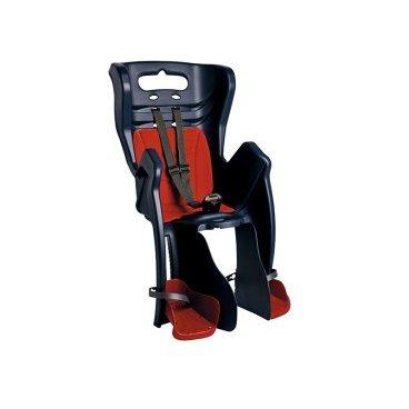 Детское велосидение на багажник BELLELLI Little Duck Clamp заднее, тёмно-синее, 01LTDM00005Детское велокресло<br>Вело кресло детское заднееLittle DuckClamp BELLELLI(Темно-синее) крепится на уже установленный задний багажник (грузоподъемность багажника не менее 25 кг, ширина 12-17,5 см) велосипеда с колесами 26-28 и позволяет перевозить ребенка до 22 кг, то есть с 1 года до 7 лет.  Вело кресло BELLELLI имеет мягкую прокладку, ремни безопасности и защиту ног от попадания в спицы.  Форма корпуса вело кресла обеспечивает защиту ребёнка по бокам.  Пряжка позволяет фиксировать ребенка в вело кресле одним движением, но при этом не может быть расстегнута ребенком случайно. Ремни безопасности с мягкими накладками могут быть отрегулированы по высоте и длине.  Велокресла BELLELLI имеют европейский сертификат качества TUV и отвечает стандарту безопасности EN 14344.  Внимание:  -Велосипедом, на котором установлено детское кресло, должен управлять опытный пользователь!  -Велокресло не может устанавливаться на велосипеды с квадратной трубой рамы и на велосипеды с задней амортизацией.  -Используйте защитные средства во время катания на велосипеде (шлем/наколенники!).     ВелокреслозаднееBELLELLI Little Duck Clamp:  Материал:пластик.  Устанавливается:на багажник велосипеда.  Вес ребёнка:до 22 кг.  Приблизительный возраст ребёнка:~от 1 года до 7 лет.  Допустимая ширина багажника:от 12-17,5 см (багажник НЕ консольного типа).  Грузоподъёмность багажника:до 25 кг.  Колёса взрослого велосипеда:от 26 до 29.  Крепление Clamp:это быстросъёмное крепление на багажник.  Застёжки ремней:baby control (с секретом).  Регулировка ремней:есть.  Защитная платформа для ног с регулировкой:есть.  В комплекте:крепление.  Цвет кресла:темно-сиий.  Цвет подушки:оранжевый.  Европейский сертификат качества TUV.  Стандарт безопасности:EN 14344.<br>