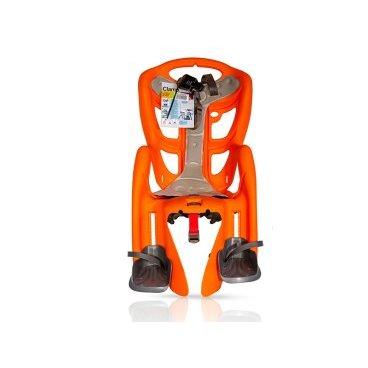Детское велокресло на багажник BELLELLI Pepe Clamp заднее, до 7лет/22кг, оранжевое, 01PPM00011Детское велокресло<br>Наслаждаться прогулками на велосипеде вместе с ребенком - легко с новым задним детским велокресломPepe Clamp BELLELLI.  Это креслокрепится на уже установленный задний багажник велосипеда(грузоподъемность багажника не менее 25 кг, ширина 12-17,5 см) с колесами 26-28 и позволяет перевозить ребенка до 22 кг, то есть с 1 года до 7 лет.  Велокресло Pepe Clampимеет мягкую прокладку, ремни безопасности и защиту ног от попадания в спицы. За счет вентилируемой перфорированной спинки малышу не будет жарко в знойный день.  Форма корпуса велокресла обеспечивает защиту ребёнка по бокам. Пряжка на ремнях безопасности позволяет фиксировать ребенка в велокресле одним движением, но при этом не может быть расстегнута ребенком случайно.  Внимание:  -Велосипедом, с установленным детским креслом, должен управлять уверенный пользователь!  -Велокресло не может устанавливаться на велосипеды с богажником консольного типа.  -Используйте защитные средства во время катания на велосипеде (шлем/наколенники!).     Велокресло детскоезаднееPepe Clamp BELLELLI:  Материал:пластик.  Устанавливается:на багажник велосипеда.  Вес ребёнка:до 22 кг.  Приблизительный возраст ребёнка:~от 1 года до 7 лет.  Допустимая ширина багажника:от 12-17,5 см (багажник НЕ консольного типа).  Грузоподъёмность багажника:до 25 кг.  Колёса взрослого велосипеда:от 26 до 29.  Крепление Clamp:это быстросъёмное крепление на багажник.  Застёжки ремней:baby control (с секретом).  Регулировка ремней:есть.  Вентилируемая спинка:есть.  Защитная платформа для ног с регулировкой:есть.  В комплекте:крепление.  Цвет кресла:оранжевый.  Цвет подушки:серый.  Европейский сертификат качества TUV.  Стандарт безопасности:EN 14344 .<br>