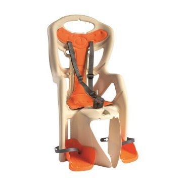 Детское велокресло на багажник BELLELLI Pepe Clamp заднее, до 7лет/22кг, бежевое, 01PPM00025Детское велокресло<br>Наслаждаться прогулками на велосипеде вместе с ребенком - легко с новым задним детским велокресломPepe Clamp BELLELLI.  Это креслокрепится на уже установленный задний багажник велосипеда(грузоподъемность багажника не менее 25 кг, ширина 12-17,5 см) с колесами 26-28 и позволяет перевозить ребенка до 22 кг, то есть с 1 года до 7 лет.  Велокресло Pepe Clampимеет мягкую прокладку, ремни безопасности и защиту ног от попадания в спицы. За счет вентилируемой перфорированной спинки малышу не будет жарко в знойный день.  Форма корпуса велокресла обеспечивает защиту ребёнка по бокам. Пряжка на ремнях безопасности позволяет фиксировать ребенка в велокресле одним движением, но при этом не может быть расстегнута ребенком случайно.  Внимание:  -Велосипедом, с установленным детским креслом, должен управлять уверенный пользователь!  -Велокресло не может устанавливаться на велосипеды с богажником консольного типа.  -Используйте защитные средства во время катания на велосипеде (шлем/наколенники!).     Велокресло детскоезаднееPepe Clamp BELLELLI:  Материал:пластик.  Устанавливается:на багажник велосипеда.  Вес ребёнка:до 22 кг.  Приблизительный возраст ребёнка:~от 1 года до 7 лет.  Допустимая ширина багажника:от 12-17,5 см (багажник НЕ консольного типа).  Грузоподъёмность багажника:до 25 кг.  Колёса взрослого велосипеда:от 26 до 29.  Крепление Clamp:это быстросъёмное крепление на багажник.  Застёжки ремней:baby control (с секретом).  Регулировка ремней:есть.  Вентилируемая спинка:есть.  Защитная платформа для ног с регулировкой:есть.  В комплекте:крепление.  Цвет кресла:бежевый.  Цвет подушки:оранжевый.  Европейский сертификат качества TUV.  Стандарт безопасности:EN 14344.<br>