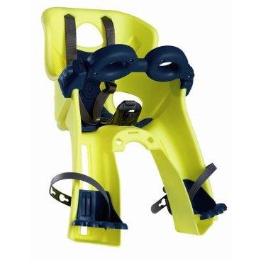 Сидение на раму/вынос BELLELLI Freccia SportFix Hi-Viz переднее, светоотражающее, жёлтое, 01FRCS0027Детское велокресло<br>Велокресло с бампером детское переднее Bellelli Freccia SportFix (желтое) на рулевую трубу рамы велосипедов городских моделей с высокой головной частью для ребенка до 15 кг.<br><br>За счет расположения ребенка спереди увеличивается обзор и улучшается взаимная коммуникация со взрослым. Защитный шлем обязателен для обоих.<br><br>Ремни безопасности регулируются по высоте и длине. Пряжка легко защелкивается одной рукой.<br>Защита для ног с регулировкой по высоте предотвращает контакт с колесом в любых положениях.<br>Перфорированная, вентилируемая, комфортабельная спинка сидения.<br>Крепление на руль (труба рулевого стакана). Бампер дополнительной защиты ребенка в комплекте, открывается нажатием с одной стороны. Крепление в комплекте.<br>Велокресла BELLELLI имеют европейский сертификат качества TUV и отвечает стандарту безопасности EN 14344.<br>Внимание:<br><br>-Велосипедом, с установленным детским креслом, должен управлять уверенный пользователь!<br><br>-Велокресло не может устанавливаться на велосипеды с квадратной трубой рамы и на велосипеды с задней амортизацией.<br><br>-Используйте защитные средства во время катания на велосипеде (шлем/наколенники!).<br><br>Новинка от BELLELLI - светоотражающий пластик Hi-Viz, который отражает свет фар. Сделает поездки в темное время суток безопасными!<br><br>Крепеж SportFix<br>Материал: пластик (легко мыть).<br>Мягкая подушка: перфорированная ткань.<br>Материалы деталей крепления: пластик/сталь.<br>Тип крепления SportFix: это универсальный передний крепёж, подходящий для большинства современных горных велосипедов.<br>Вес ребёнка: не более 15 кг.<br>Возраст ребёнка: ~3-4 года.<br>Диаметр трубы взрослого велосипеда: 25-55 мм.<br>Крепится: на рулевую трубу рамы велосипеда.<br>Регулировка платформы для ног с фиксаторами: есть (пресекает контакт с колёсами во время движения).<br>Регулировка ремней: есть.<br>Вентиляци