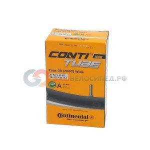 Камера для велосипеда Continental Tour 28 wide, 54-584/62-622, A40, автониппель, 01821210000Камеры для велосипеда<br>Tour 28 wide, 54-584 -&gt; 62-622, A40<br><br>Вес: 260 г<br>Длина ниппеля: 40 мм<br>