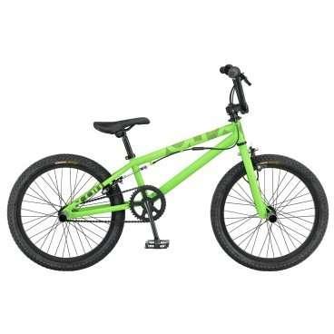 Велосипед BMX Scott Volt-X 30 2016BMX<br>Scott Volt-X 30 2016<br>Байк для покатушек по городу и исполнения трюков. Велосипед Scott Volt-X 30 обладает запасом прочности для безопасности Райдера. Жесткая вилка гарантирует хорошую управляемость при резких поворотах и прыжках. Покрышки Kenda Dirt создают отличное сцепление с дорогой.<br><br><br><br><br><br><br><br><br>Общие характеристики<br><br><br>Модель<br>2016 года<br><br><br>Тип<br>подростковый<br><br><br>Область применения<br>BMX<br><br><br>Вес велосипеда<br>13.1 кг<br><br><br>Рама, вилка<br><br><br>Материал рамы<br>сталь<br><br><br>Амортизация<br>отсутствует<br><br><br>Конструкция вилки<br>жесткая<br><br><br>Конструкция рулевой колонки<br>неинтегрированная, безрезьбовая<br><br><br>Размер рулевой колонки<br>1 1/8<br><br><br>Колеса<br><br><br>Диаметр колес<br>20 дюймов<br><br><br>Наименование покрышек<br>Kenda K905 Dirt Tire, 20x2.125<br><br><br>Наименование ободов<br>Alex J303<br><br><br>Материал обода<br>алюминиевый сплав<br><br><br>Двойной обод<br>есть<br><br><br>Материал бортировочного шнура<br>металл<br><br><br>Торможение<br><br><br>Наименование переднего тормоза<br>Tektro 985AFS<br><br><br>Тип переднего тормоза<br>клещевой<br><br><br>Уровень переднего тормоза<br>начальный<br><br><br>Наименование заднего тормоза<br>Tektro 907AD<br><br><br>Тип заднего тормоза<br>клещевой<br><br><br>Уровень заднего тормоза<br>прогулочный<br><br><br>Трансмиссия<br><br><br>Количество скоростей<br>1<br><br><br>Уровень каретки<br>начальные<br><br><br>Наименование каретки<br>VP-B35 US BB Loose Ball<br><br><br>Кассеты<br>Lida LMA-0 1/2x1/8, 14T<br><br><br>Количество звезд в кассете<br>1<br><br><br>Количество звезд системы<br>1, число зубьев 38<br><br><br>Конструкция педалей<br>платформы<br><br><br>Длина шатунов<br>16 см<br><br><br>Руль<br><br><br>Конструкция руля<br>изогнутый<br>