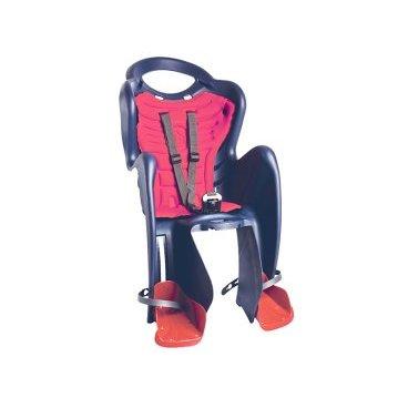Велокресло детское BELLELLI заднее Mr Fox Relax, тёмно-синее, арт.01FXRB0005Детское велокресло<br>Велокресло детское BELLELLI заднее Mr Fox Relax, тёмно-синее,<br>Детское велокресло BELLELLI Mr Fox Relax делает прогулки на велосипеде комфортными и безопасными. Его широкие стенки предохраняют ножки малыша от попадания в спицы колеса, а подпятники могут плавно регулироваться по высоте. Гибкая стальная вилка защищает спину ребенка от сотрясений при езде. Имеются специальное отверстие для шлема и регулируемые ремни безопасности. Модель отличается от аналогов тем, что спинка может откидываться для большего удобства.<br>В комплекте к этому креслу входит крепление Relax. Это крепление монтируется на подседельную трубу рамы велосипеда. При этом, диаметр колес должен быть не меньше 26 дюймов. Сечение рамы веосипеда должно быть либо круглым (диаметром 25-46 мм), либо овальным (диаметром 30-40 мм на 38-46 мм). На велосипеды с квадратным сечением рамы кресло устанавливать нельзя. Крепление Relax позволяет регулировать кресло в положение полу-лежа. В таком положении ребенок сможет вздремнуть во время прогулки.<br>Комфорт создаст мягкая вкладка. Она легко снимается для стирки.<br>Цвет: темно- синий<br>Артикул: 01FXRB0005<br>